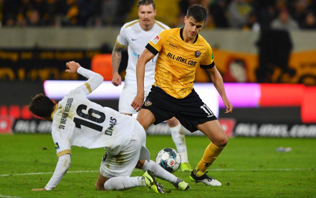 Das Hinspiel gewann Dresden mit 1:0