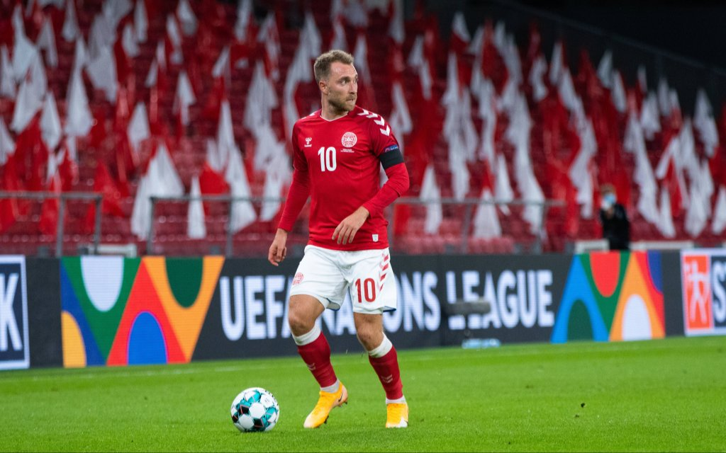 Copenhagen, Denmark. 05th, September 2020. Christian Eriksen 10 of Denmark seen during the UEFA Nations League match between Denmark and Belgium at Parken in Copenhagen