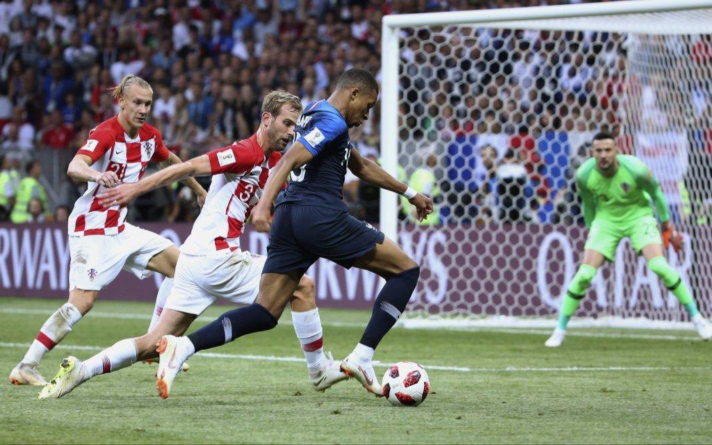 MBAPPE Kylian Team Frankreich, WM 2018 in Russland Finale Frankreich-Kroatien 4 : 2 am 15. Juli 2018 im Luzhniki Stadion in Moskau