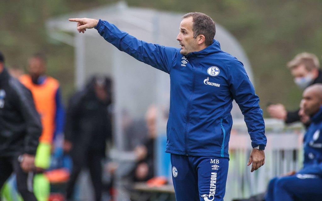 08.10.2020, Fussball, Saison 2020/2021, Testspiel, FC Schalke 04 - SC Paderborn, Cheftrainer Manuel Baum FC Schalke 04