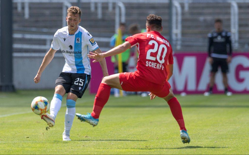 Fußball, 3. Liga, TSV 1860 München - Hansa Rostock Im Bild Marius WILLSCH TSV 1860 München, 25 und Lukas SCHERFF FC Hansa Rostock