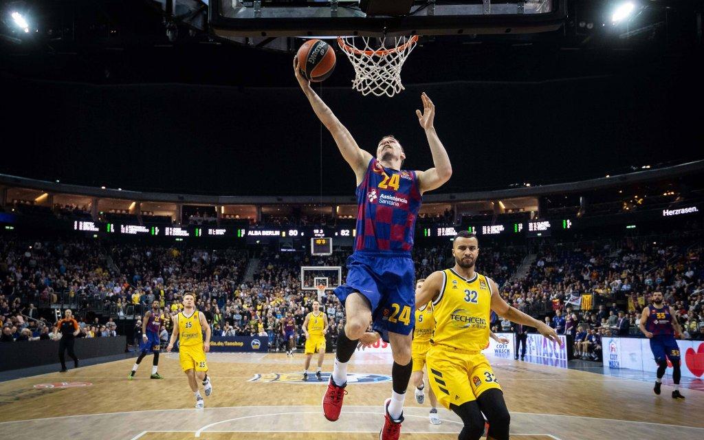 Barcelonas Kuric (M.) vergangene Saison gegen ALBA Berlin