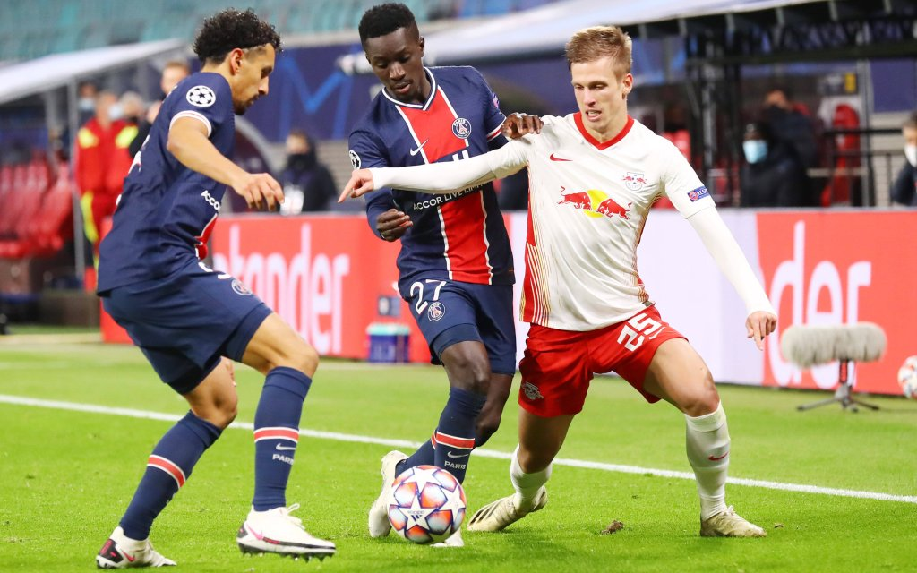 RB Leipzig - Paris SG / 04.11.2020 Leipzig, 04.11.2020, Red Bull Arena, Champions League, Gruppe H, 3.Spieltag , RB Leipzig vs. FC Paris Saint-Germain