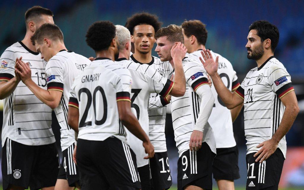 Fussball, Herren, Saison 2020/21, Nations League Liga A, Gruppe 4, 5. Spieltag in Leipzig, Deutschland - Ukraine, Deutschland, Jubel nach Tor zum 3:1