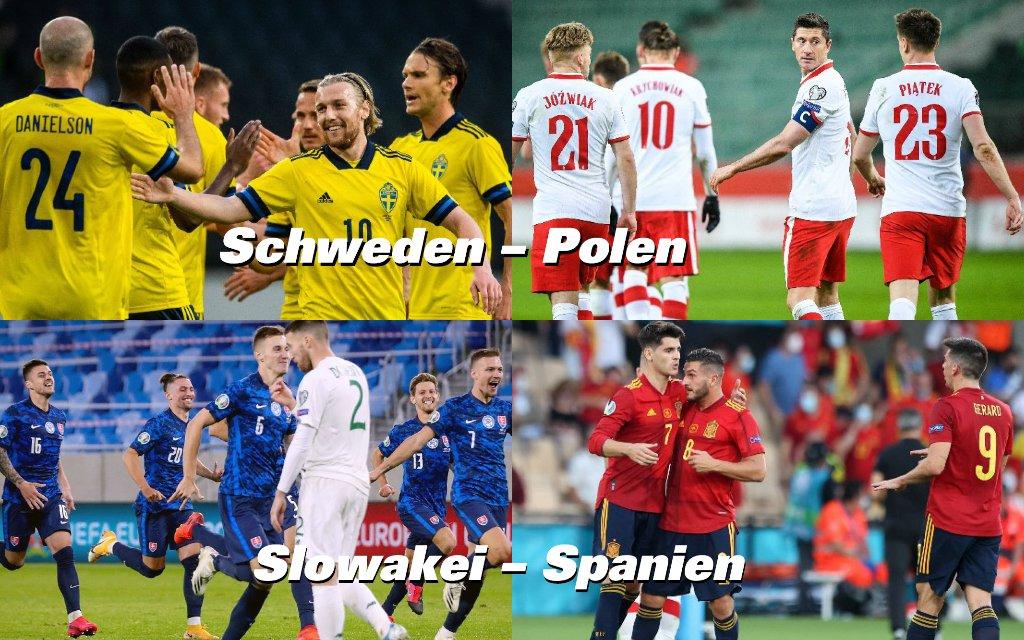 Gruppe E mit Spanien, Schweden, Slowakei und Polen.