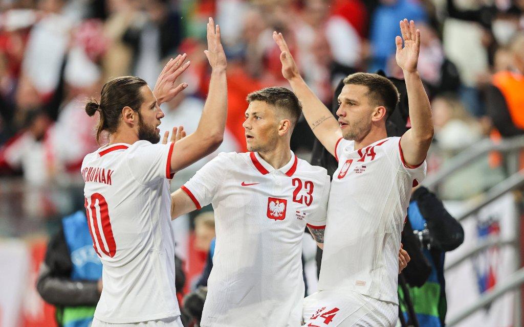 Polen jubelt im Freundschaftsspiel gegen Russland.
