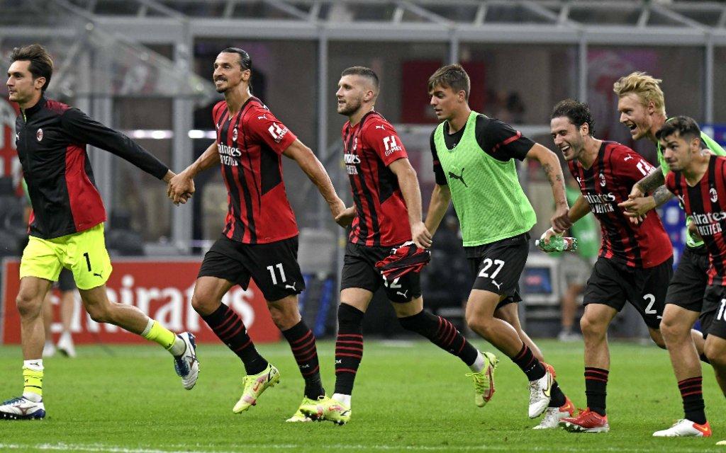IPP20210912 Football - soccer: Serie A, AC Mailand - Lazio Rom, Zlatan Ibrahimovic e compagni festeggaino la vittoria